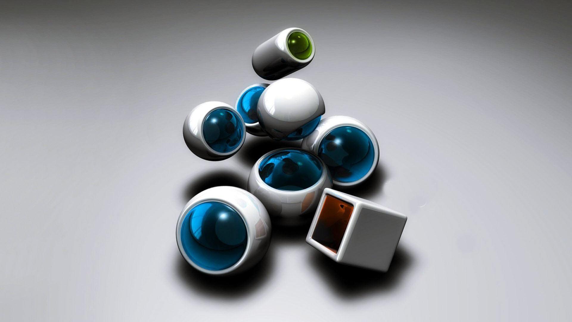 Hình nền 3D sáng tạo, độc đáo