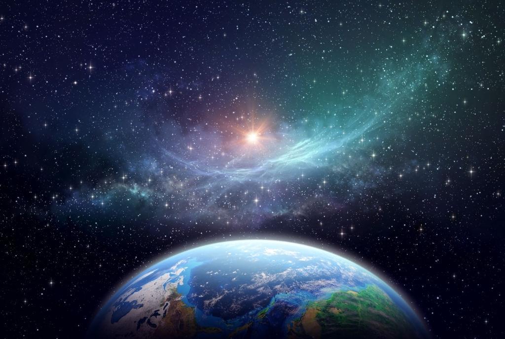 Ảnh background vũ trụ Trái Đất