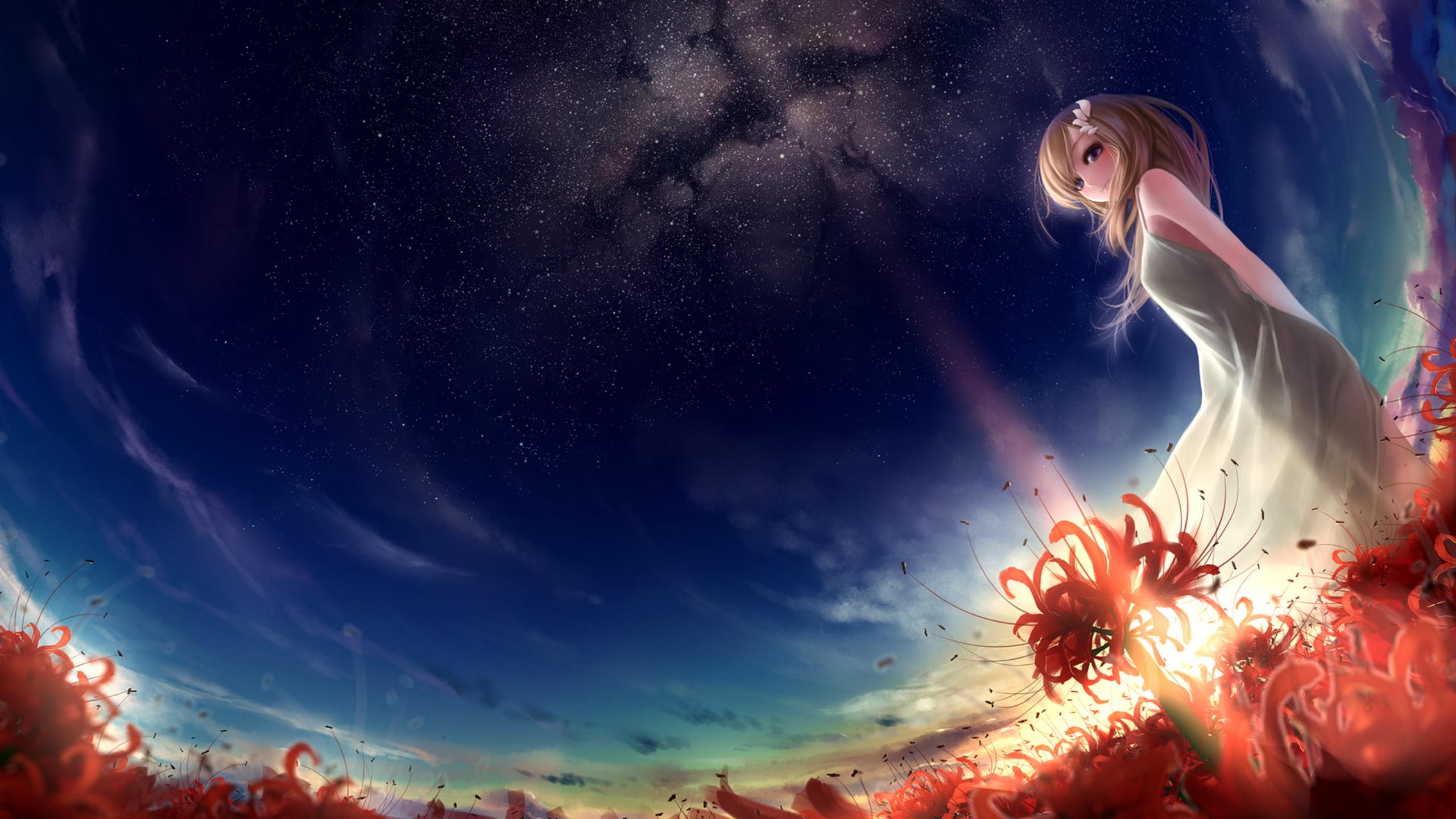 Ảnh nền hoa Bỉ Ngạn anime