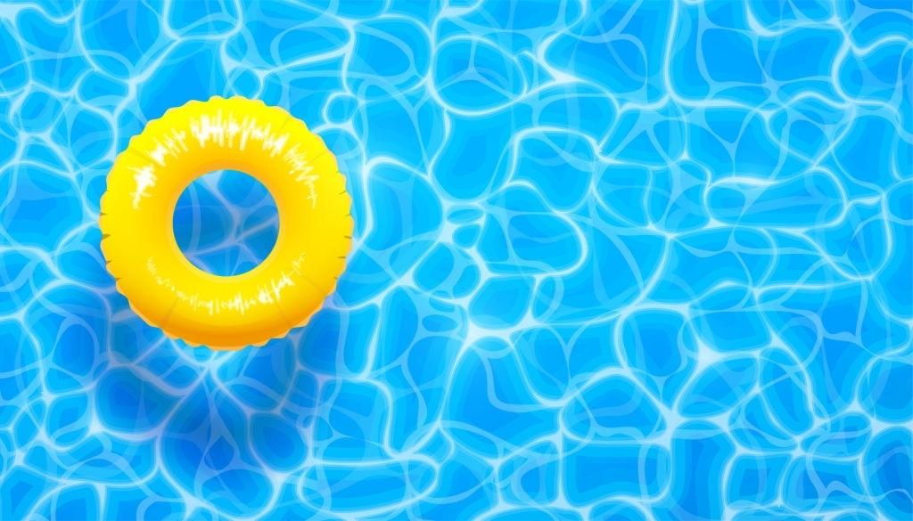 Background bể bơi mùa hè