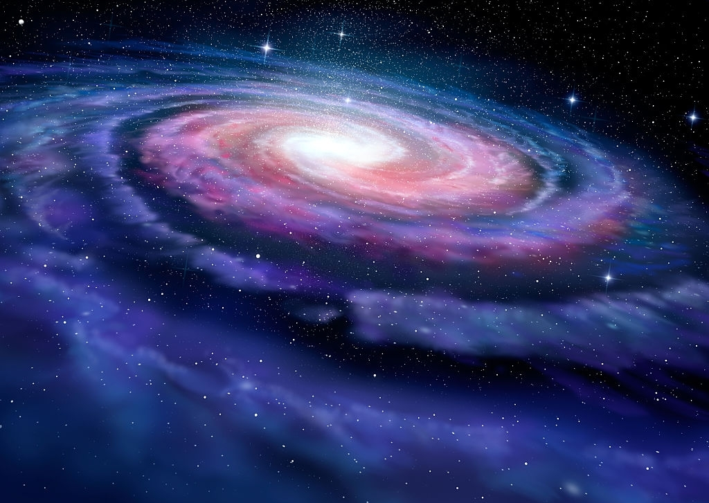 Background dải thiên hà vũ trụ