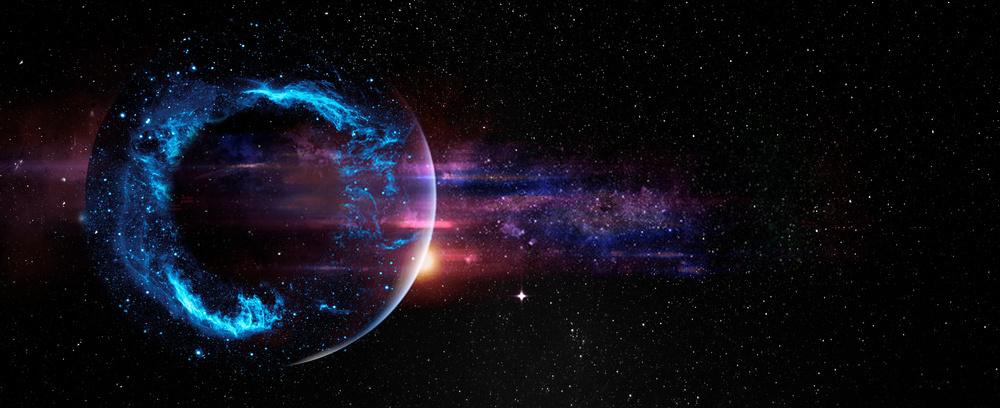 Mẫu background hành tinh vũ trụ