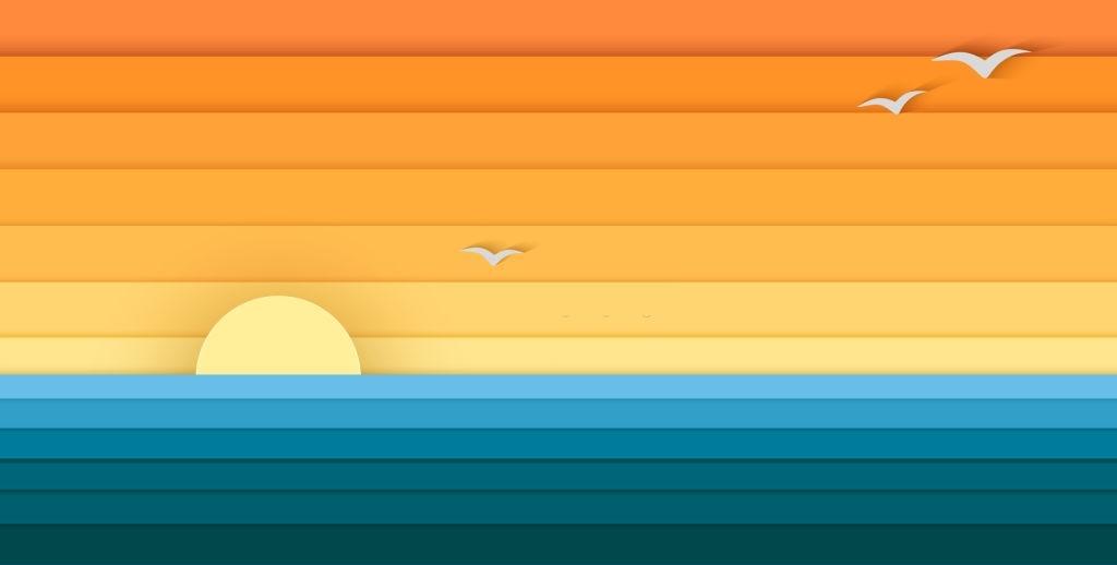 Mẫu background mùa hè 3D