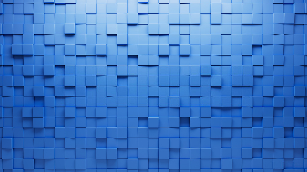 Mẫu background ô vuông xanh dương