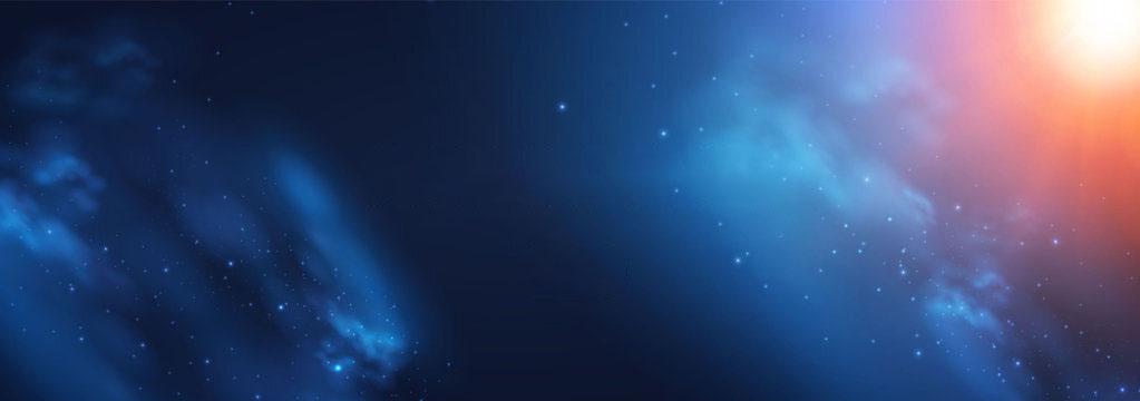 Mẫu background vũ trụ cho Slide