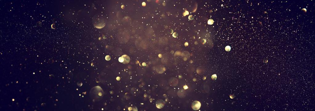 Mẫu background vũ trụ vàng