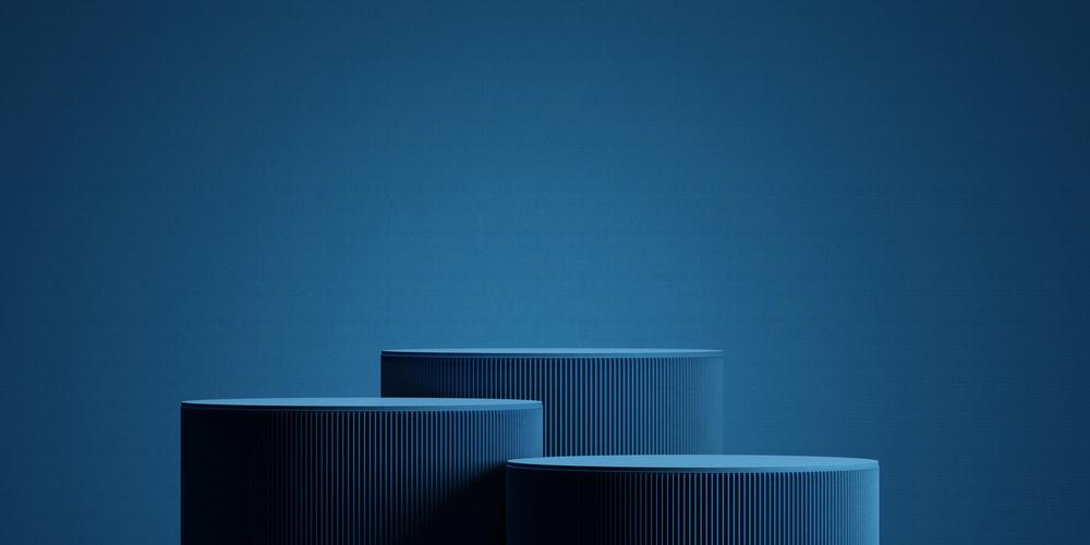 Mẫu background xanh dương 3D